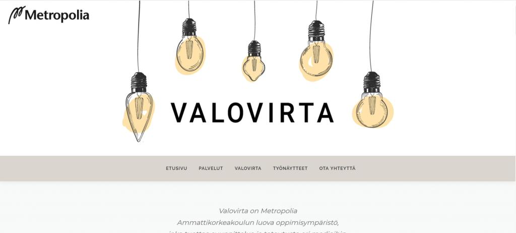 Valovirta website